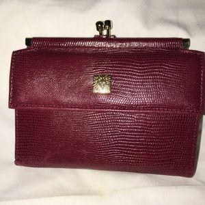 Anne Klein burgundy wallet
